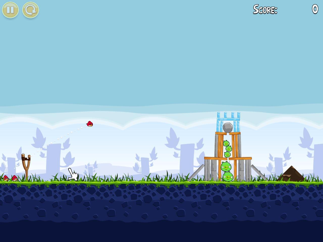 Скриншот игры Angry Birds (2.0) .